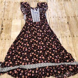 GIRLS Xhilaration Black Floral Maxi Dress